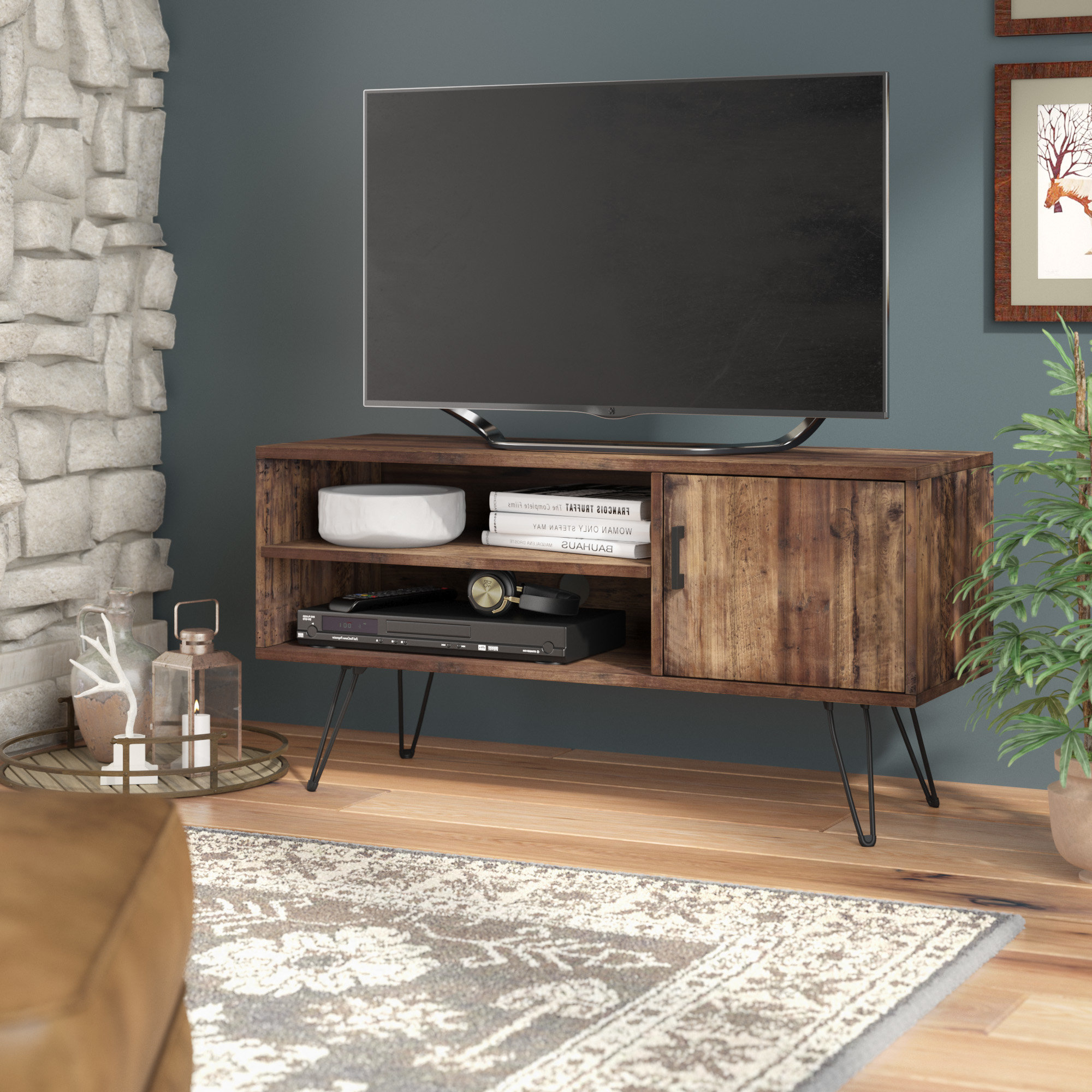 """Best And Newest Barclee Media Tv Stand For Tvs Up To 58"""" In Ericka Tv Stands For Tvs Up To 42"""" (View 5 of 20)"""