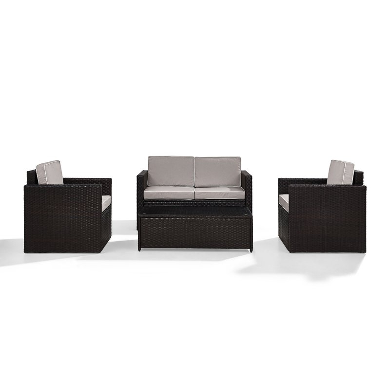 Best And Newest Belton 4 Piece Rattan Sofa Seating Group With Cushions Regarding Belton Loveseats With Cushions (View 11 of 20)