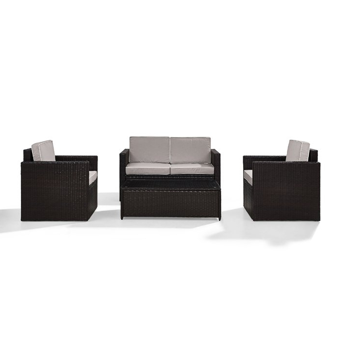 Best And Newest Belton Patio Sofas With Cushions Regarding Belton 4 Piece Rattan Sofa Seating Group With Cushions (Gallery 16 of 20)