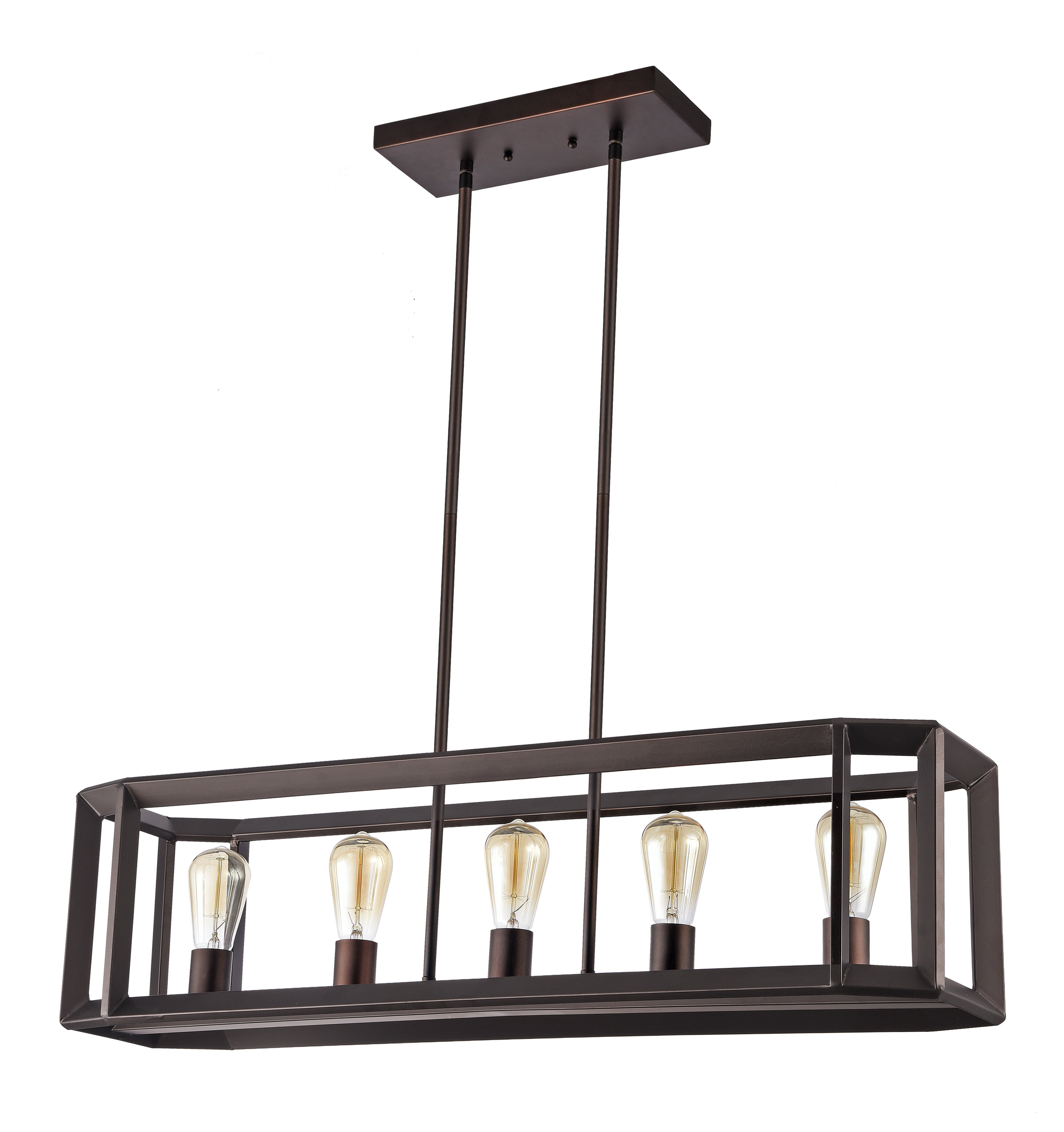 Best And Newest Bouvet 5 Light Kitchen Island Linear Pendant With Delon 5 Light Kitchen Island Linear Pendants (View 2 of 20)