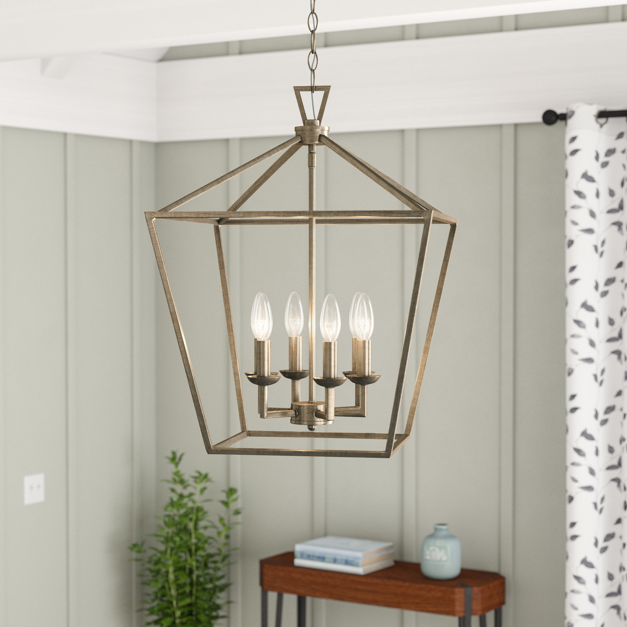 Featured Photo of Carmen 6 Light Lantern Geometric Pendants