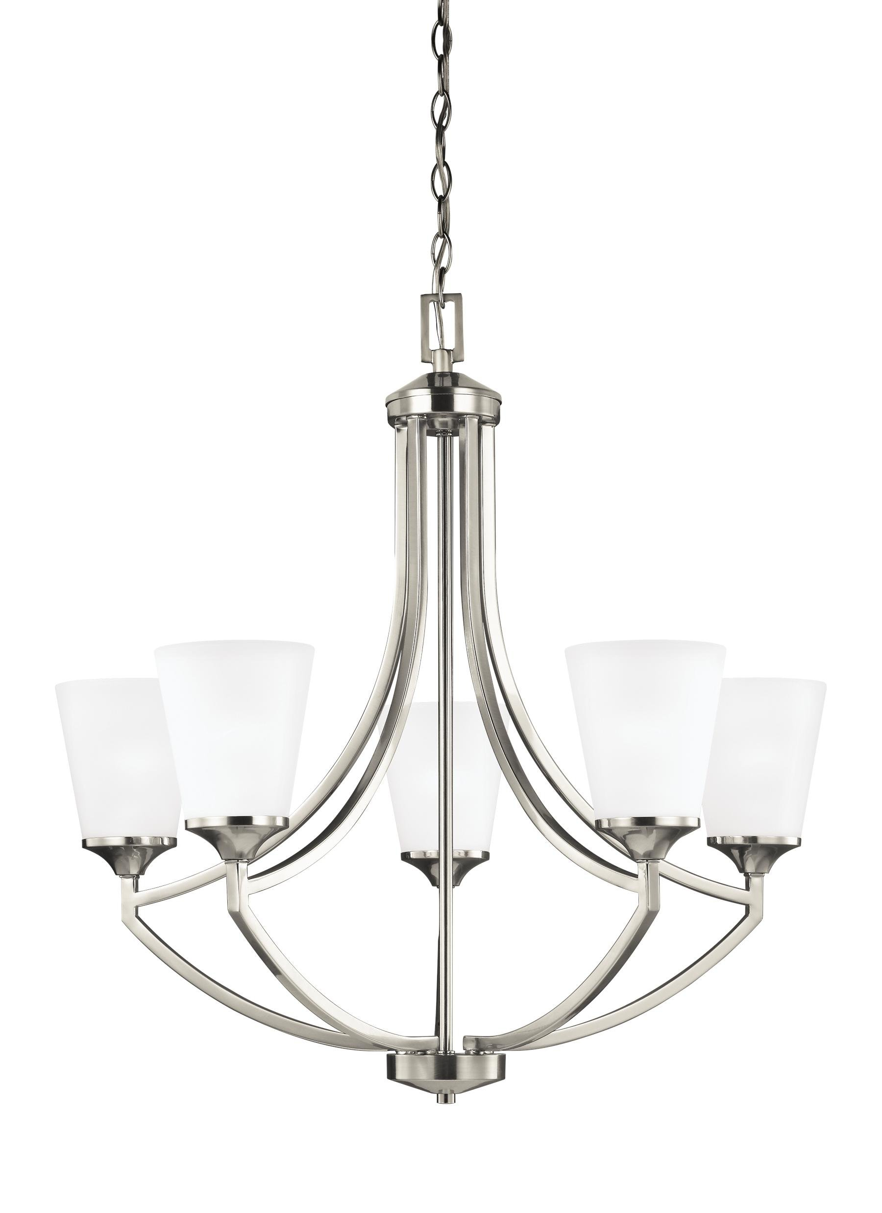 Best And Newest Crofoot 5 Light Shaded Chandeliers Pertaining To Elkton 5 Light Shaded Chandelier (View 4 of 20)