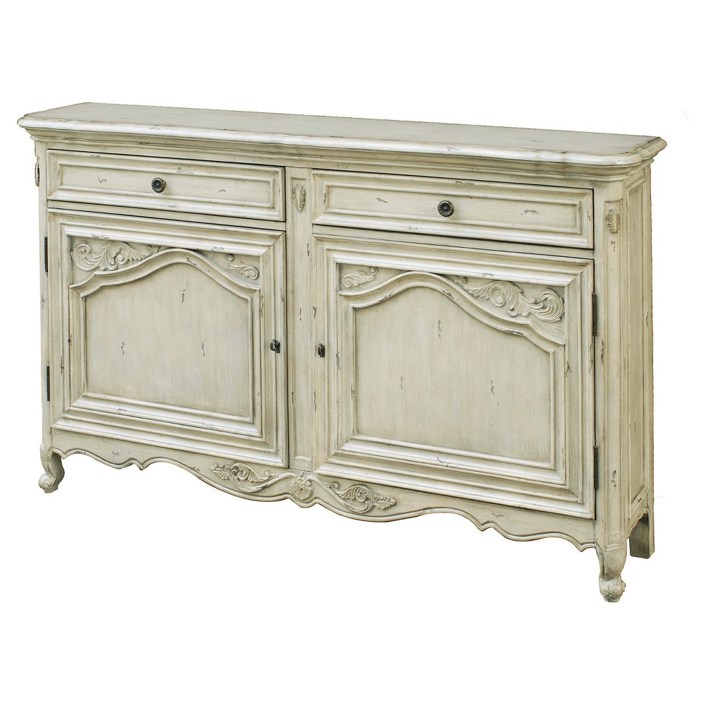 Best And Newest Dormer Sideboards Pertaining To Vista Antique Carved Door Console – White – Pulaski In 2019 (Gallery 9 of 20)