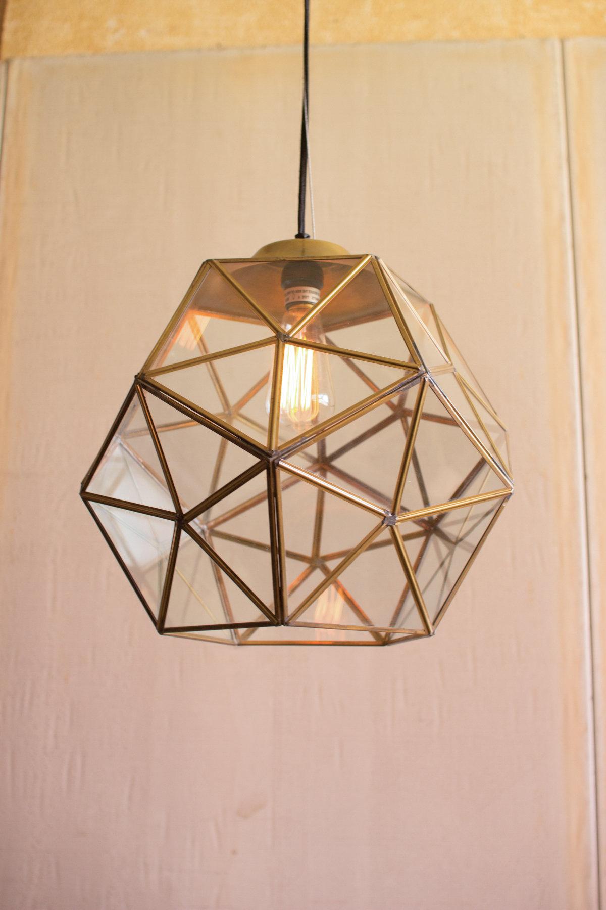 Best And Newest Edelman Glass 1 Light Lantern Pendant Inside Delon 1 Light Lantern Geometric Pendants (View 1 of 20)