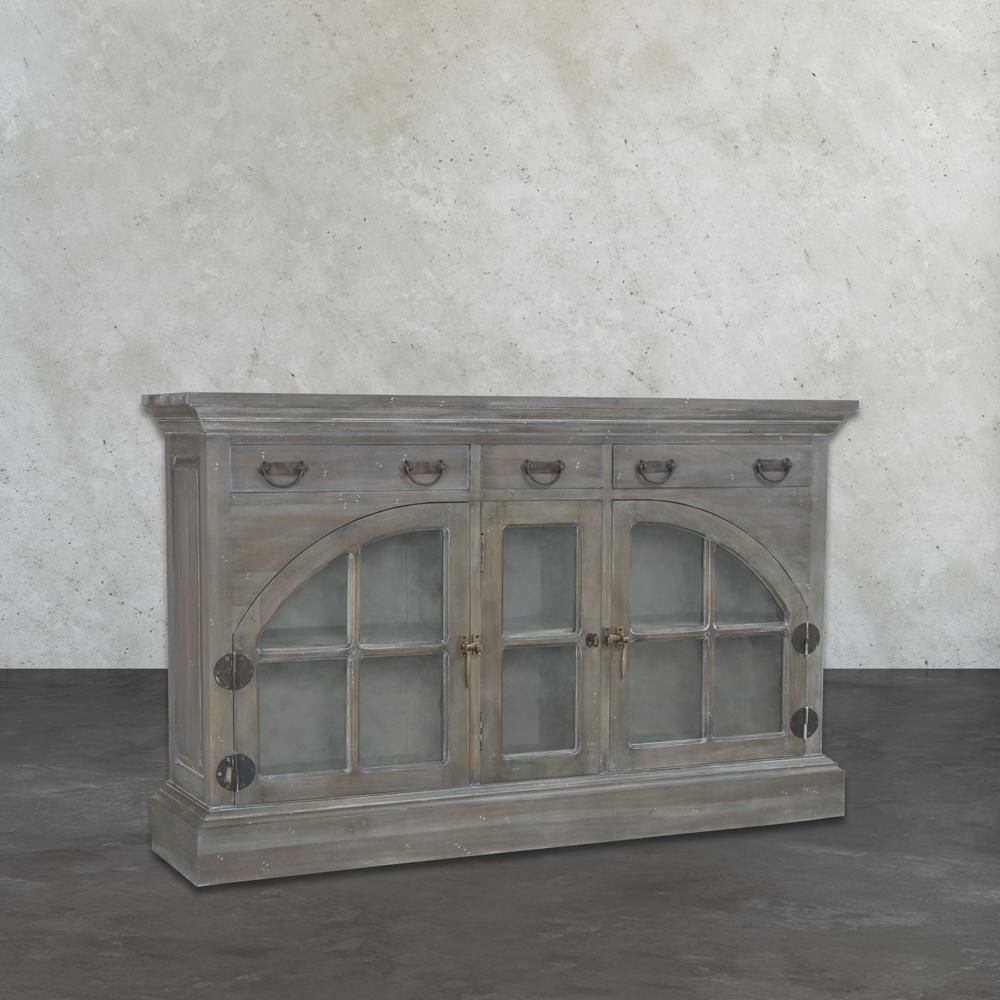 Best And Newest Etienne Sideboards Throughout Titan Lighting Farmhouse Waterfront Grey Buffet With Storage (View 2 of 20)