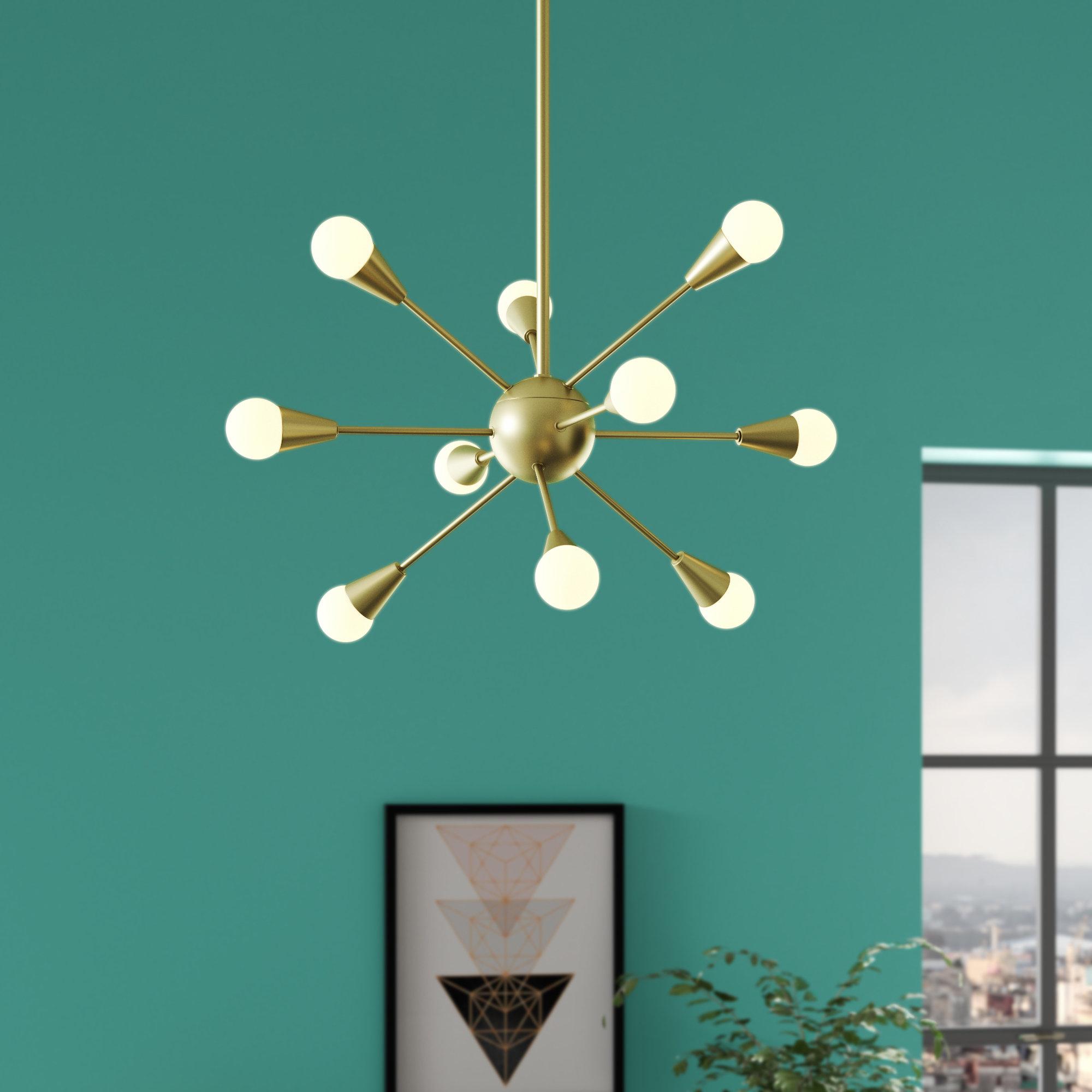 Best And Newest Everett 10 Light Sputnik Chandeliers With Delavega 10 Light Sputnik Chandelier (View 6 of 20)