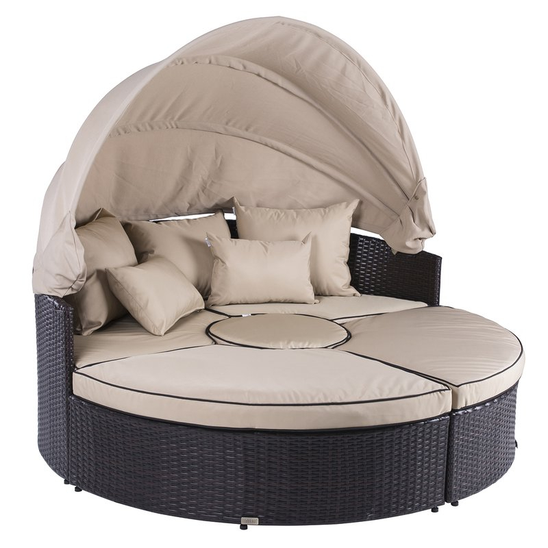 Best And Newest Gilbreath Daybeds With Cushions With Weiner 5 Piece Outdoor Daybed Set With Cushions (Gallery 14 of 20)