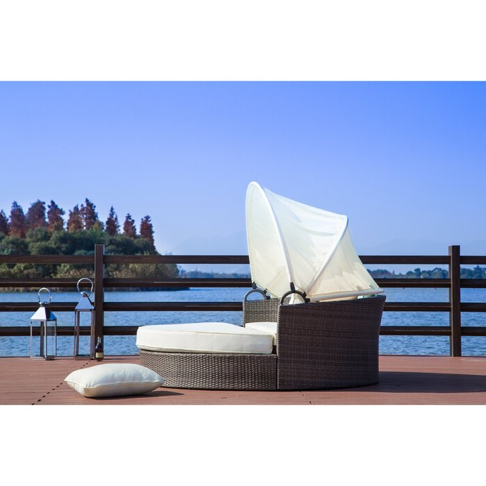 Best And Newest Harlow Patio Daybeds With Cushions In Harlow Patio Daybed With Cushions (Gallery 5 of 20)