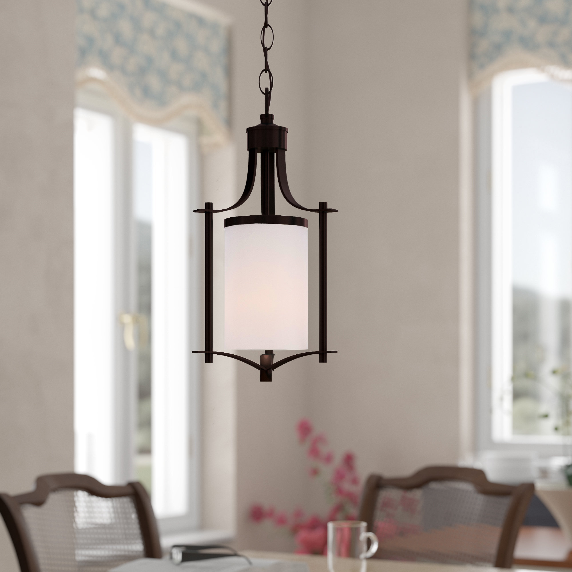 Best And Newest Helina 1 Light Pendants Intended For Agnes 1 Light Lantern Cylinder Pendant (View 2 of 20)
