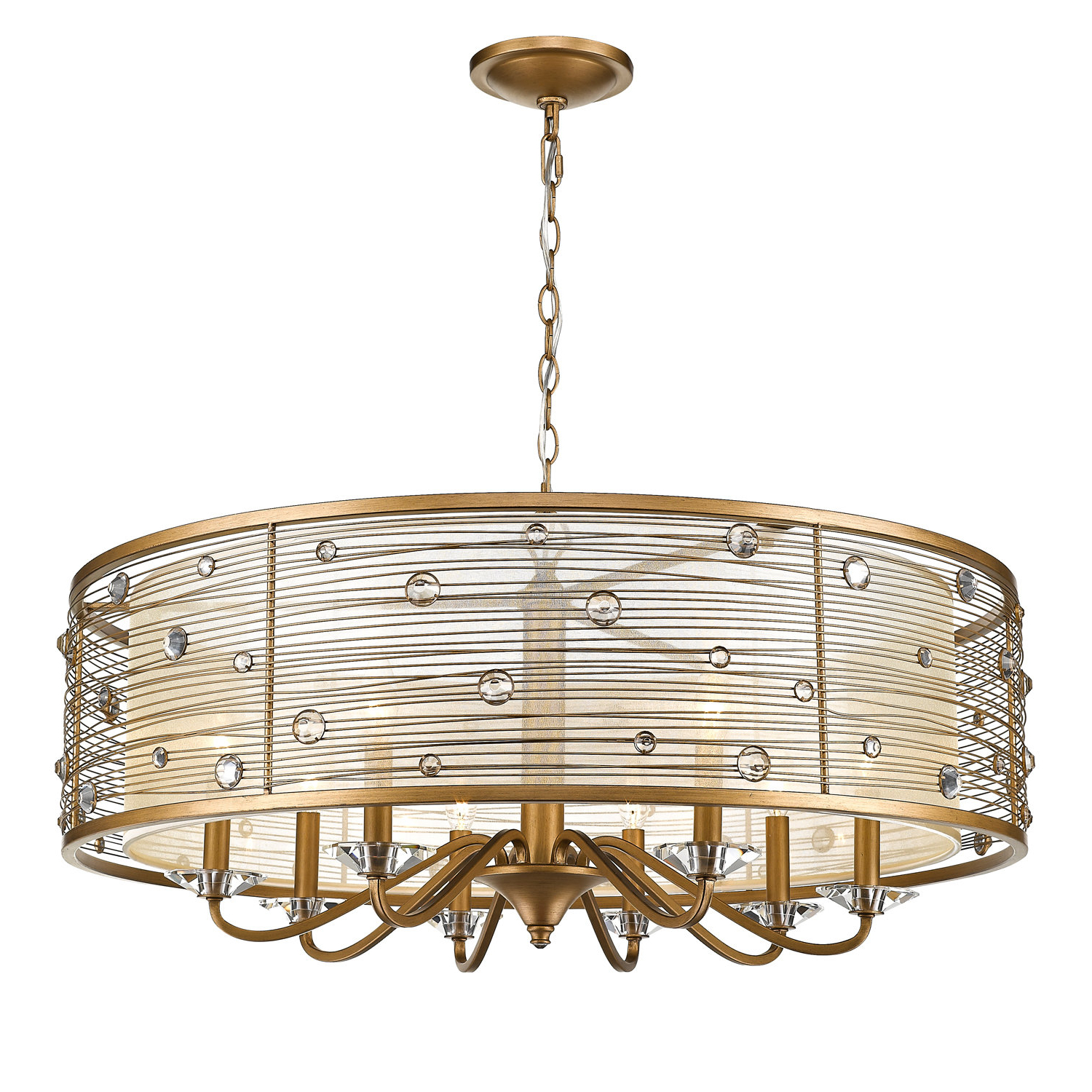 Best And Newest Hermione 5 Light Drum Chandeliers Throughout Hermione 8 Light Drum Chandelier (View 8 of 20)