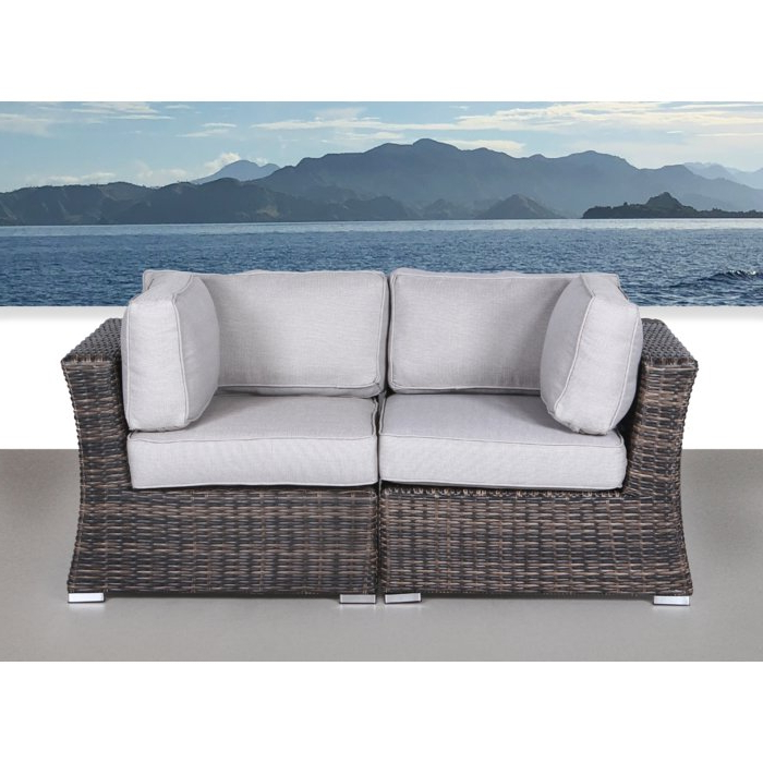 Best And Newest Huddleson Contemporary Loveseat With Cushion Pertaining To Loggins Loveseats With Cushions (View 2 of 20)