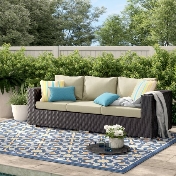Best And Newest Keiran Patio Sofas With Cushions With Brentwood Patio Sofa With Cushions (View 1 of 20)