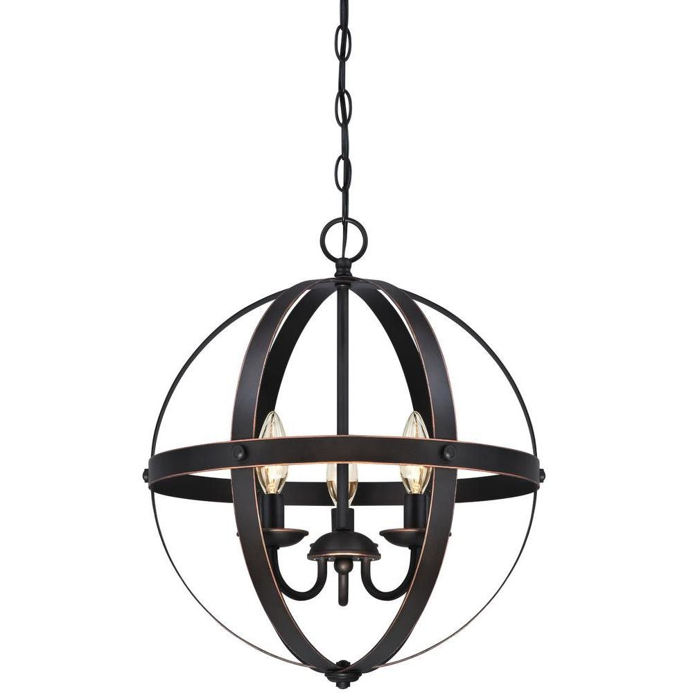 Best And Newest La Barge 3 Light Globe Chandelier Intended For La Sarre 3 Light Globe Chandeliers (View 7 of 20)