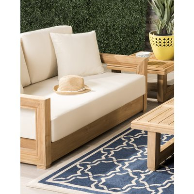 Best And Newest Lakeland Teak Patio Sofas With Cushions Intended For Lakeland Teak Loveseat With Cushions (View 7 of 20)