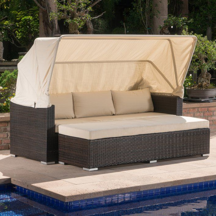 Best And Newest Lammers Outdoor Wicker Daybed With Cushions Throughout Lammers Outdoor Wicker Daybeds With Cushions (View 4 of 20)