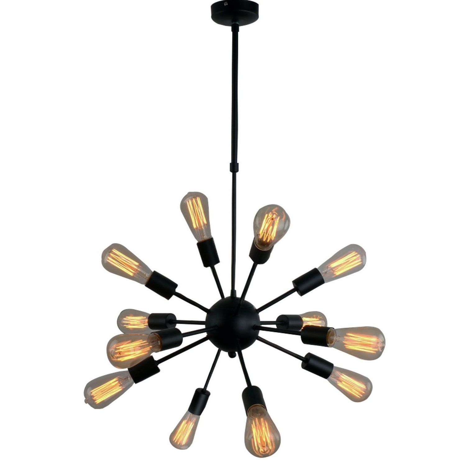 Best And Newest Lamp: Vintage Metal Large Dimmable Sputnik Chandelier With Intended For Vroman 12 Light Sputnik Chandeliers (View 17 of 20)