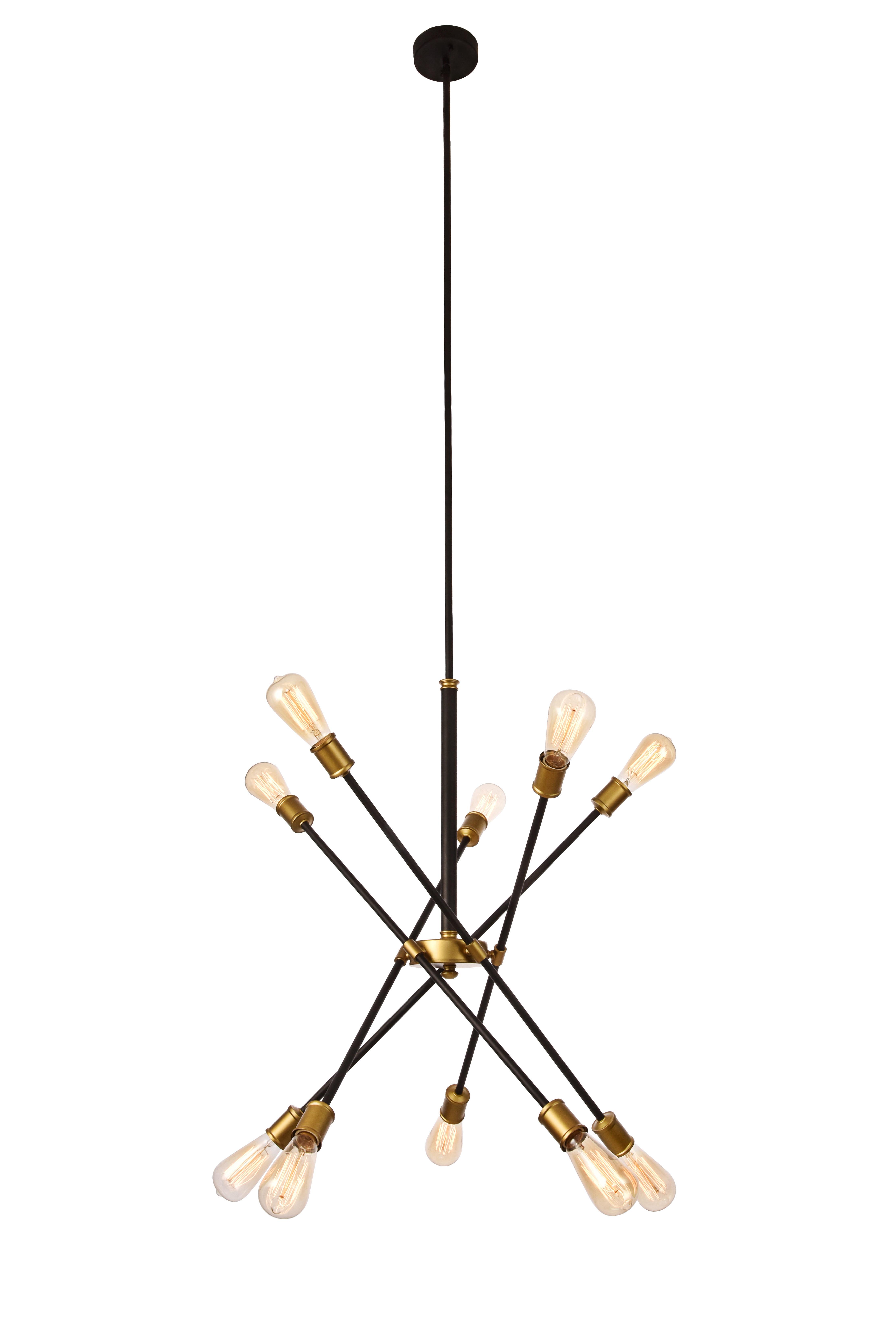 Best And Newest Langley Street Caden 10 Light Sputnik Chandelier Intended For Eladia 6 Light Sputnik Chandeliers (Gallery 16 of 20)