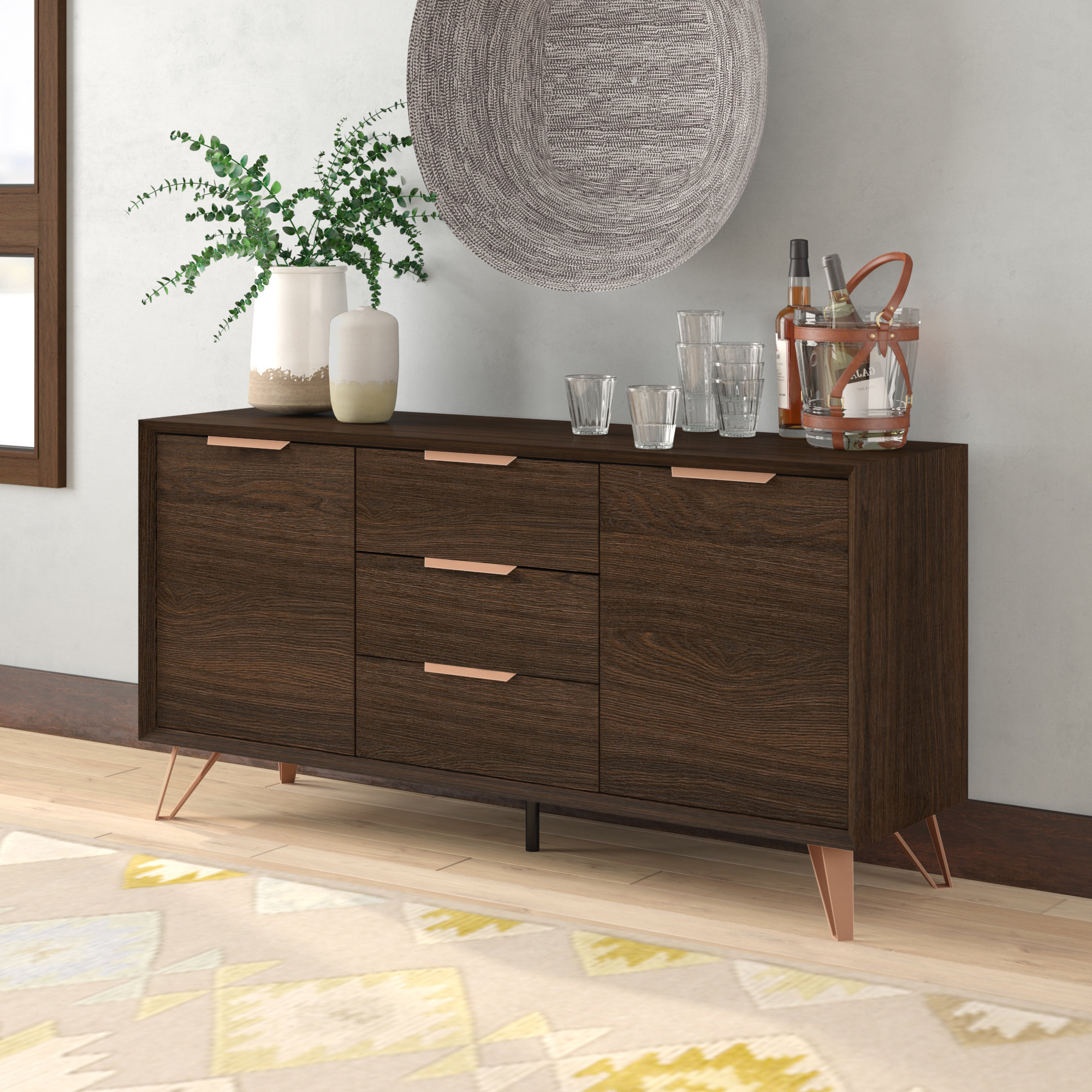 Best And Newest Lininger Sideboard With Keiko Modern Bookmatch Sideboards (View 4 of 20)