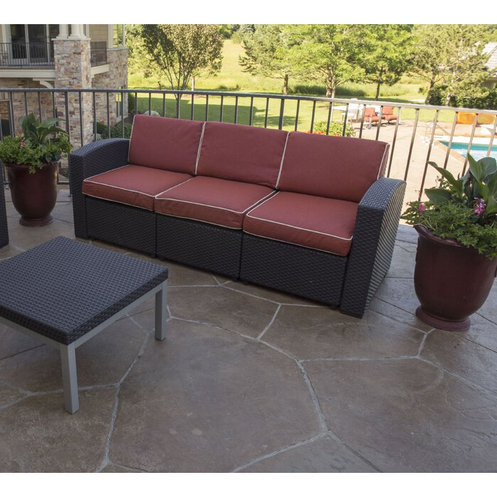 Best And Newest Loggins Patio Sofa With Cushions Within Loggins Patio Sofas With Cushions (View 4 of 21)