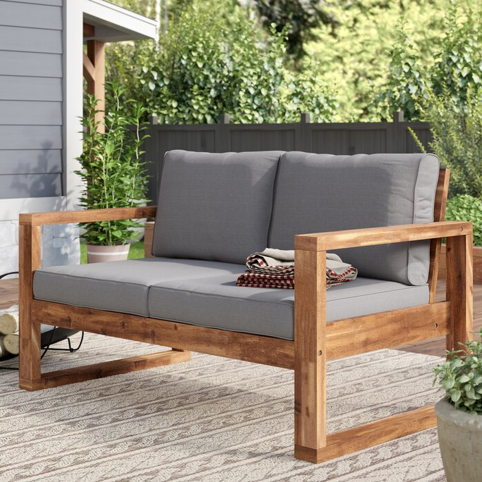 Best And Newest Lyall Loveseats With Cushion Within Lyall Loveseat With Cushion (View 5 of 20)