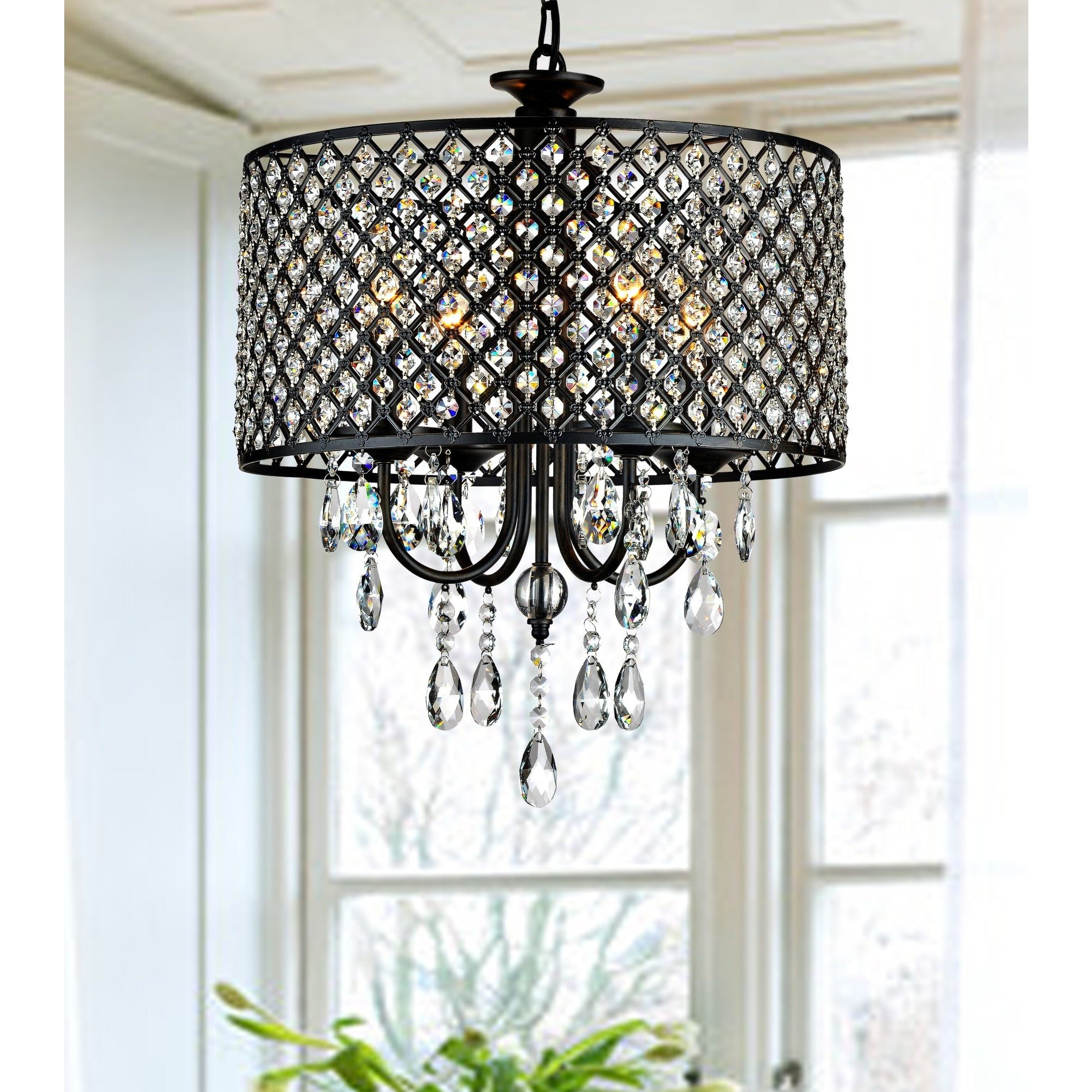 Best And Newest Mckamey 4 Light Crystal Chandelier For Gisselle 4 Light Drum Chandeliers (View 7 of 20)