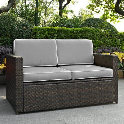 Best And Newest Mercury Row Belton Loveseat With Cushions Fabric Color: Gray For Belton Loveseats With Cushions (View 9 of 20)