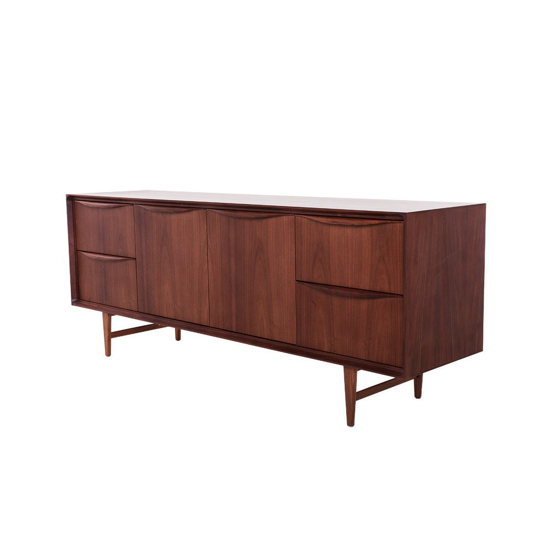 Best And Newest Mid Century Karon Credenza – Walnut (View 2 of 20)
