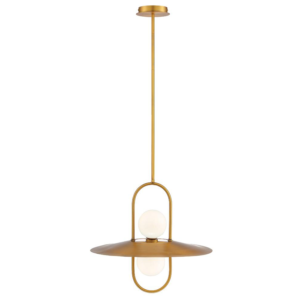 Best And Newest Millbrook 5 Light Shaded Chandeliers With Regard To Eurofase Millbrook 10 Watt Brass Chandelier Integrated Led With Glass Shade (View 2 of 20)