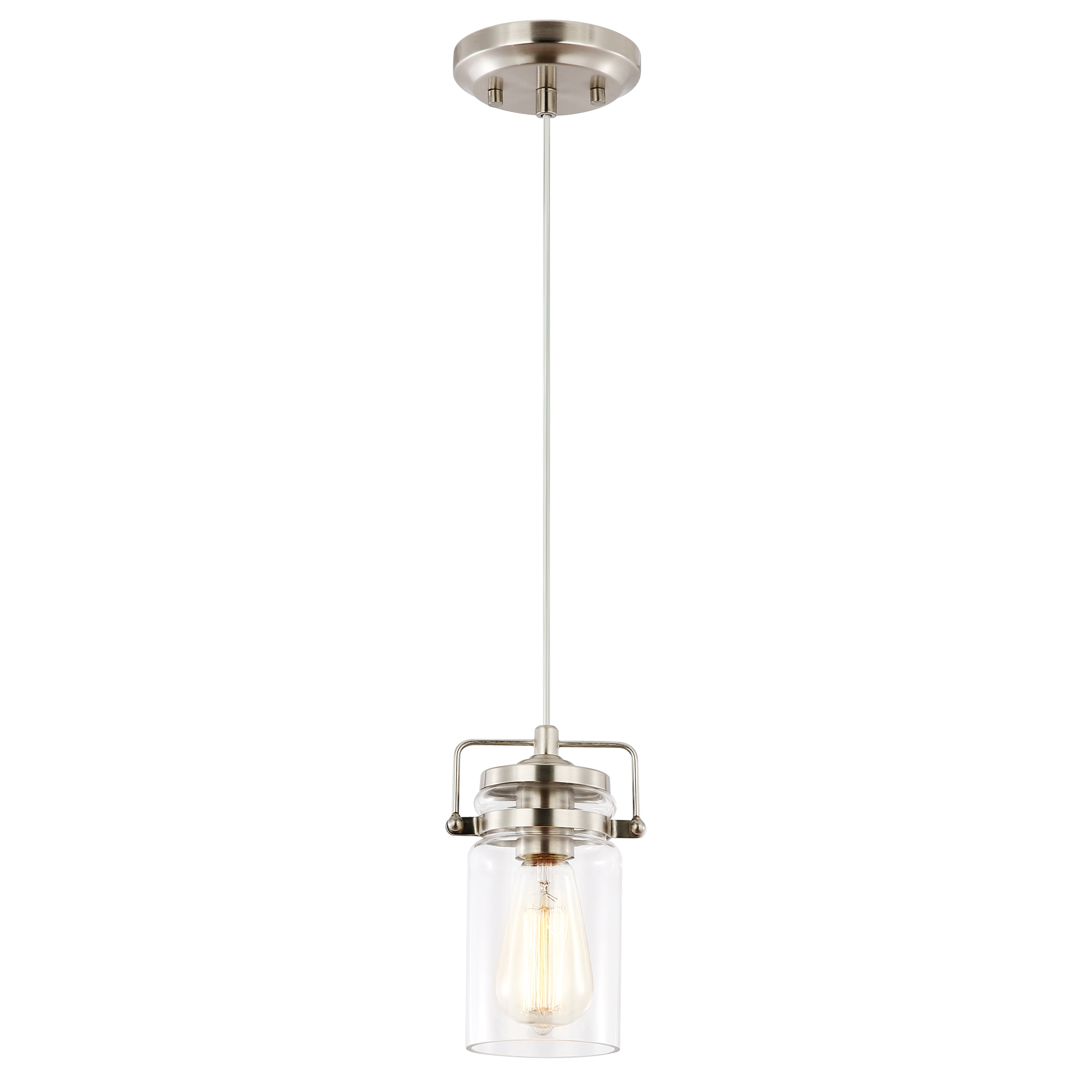 Best And Newest Mistretta 1 Light Single Jar Pendant In Houon 1 Light Cone Bell Pendants (Gallery 20 of 20)