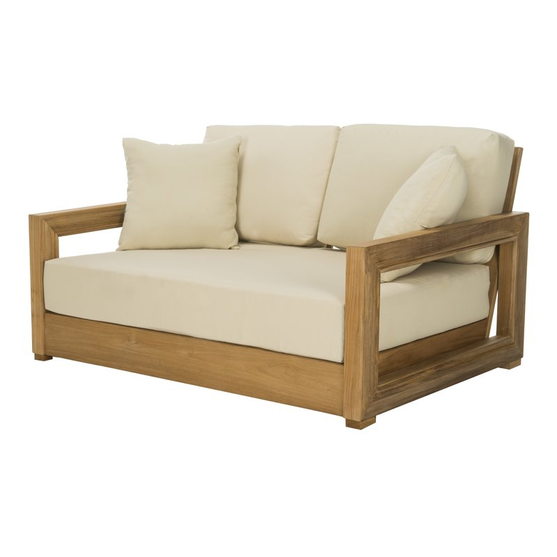 Featured Photo of Montford Teak Loveseats With Cushions