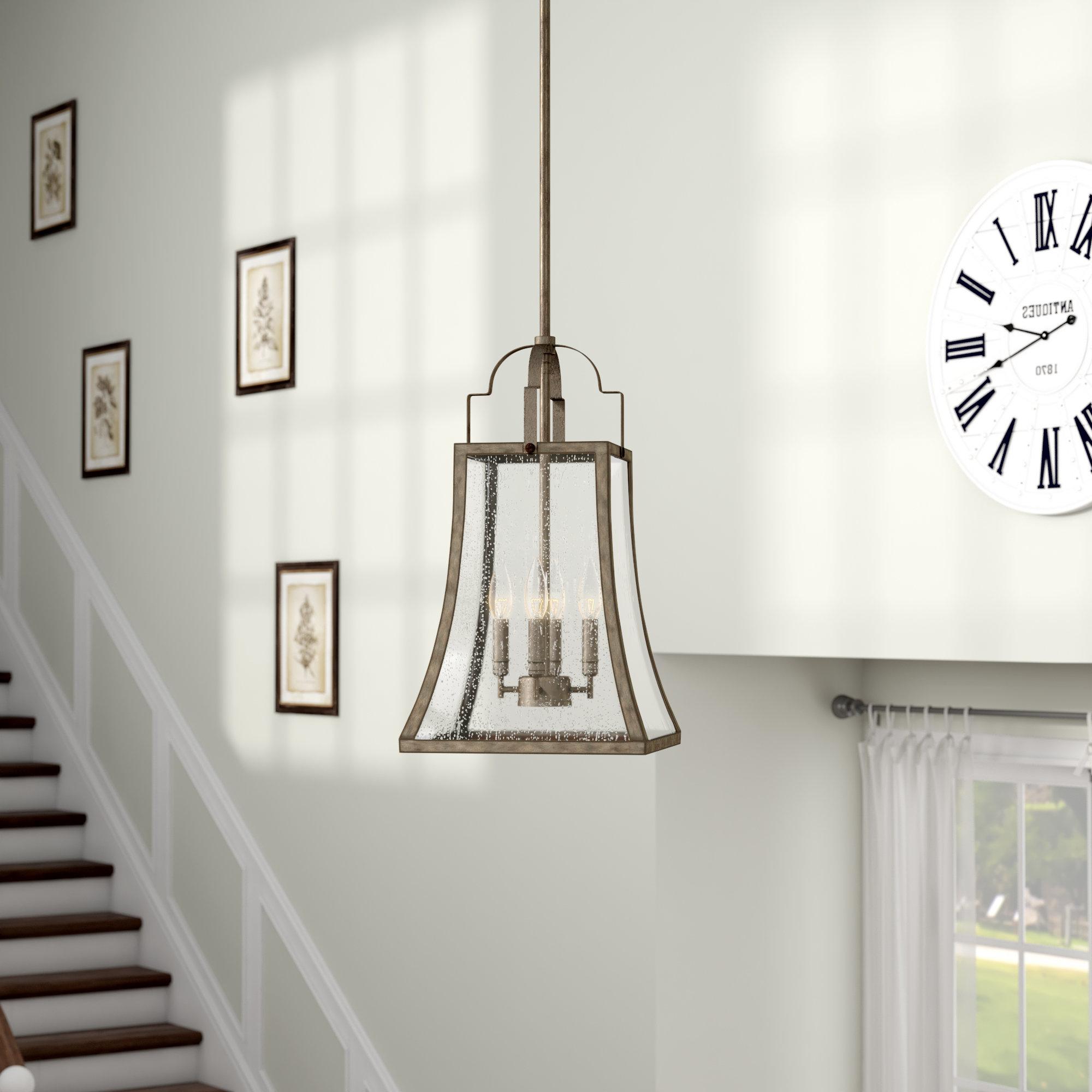 Best And Newest Montvert 4 Light Foyer Pendant Within Kierra 4 Light Unique / Statement Chandeliers (Gallery 18 of 20)
