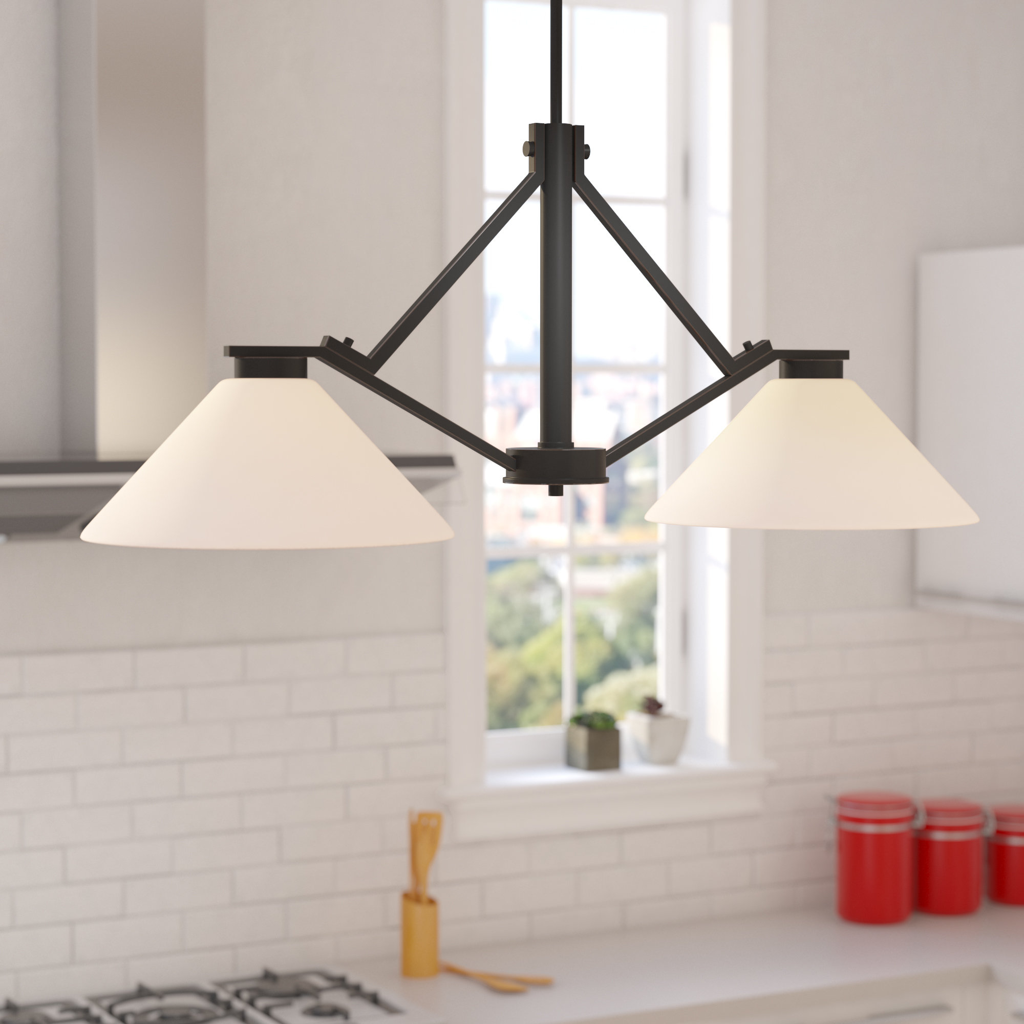 Best And Newest Naccarato 2 Light Kitchen Island Pendant For Euclid 2 Light Kitchen Island Linear Pendants (View 4 of 20)