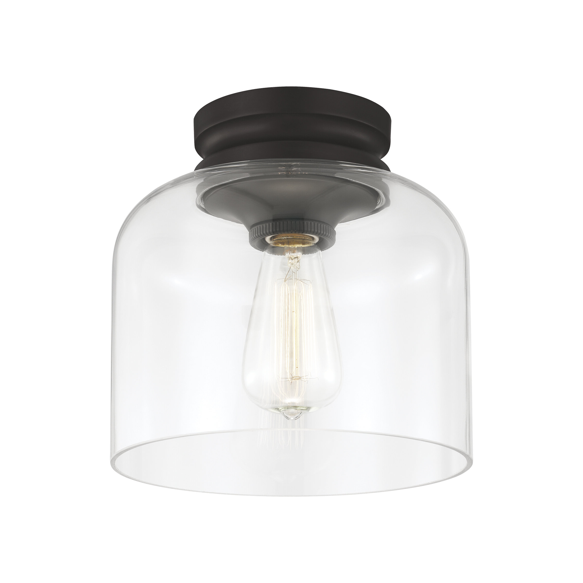 Best And Newest Nolan 1 Light Single Cylinder Pendants In Nolan 1 Light Semi Flush Mount (View 1 of 20)