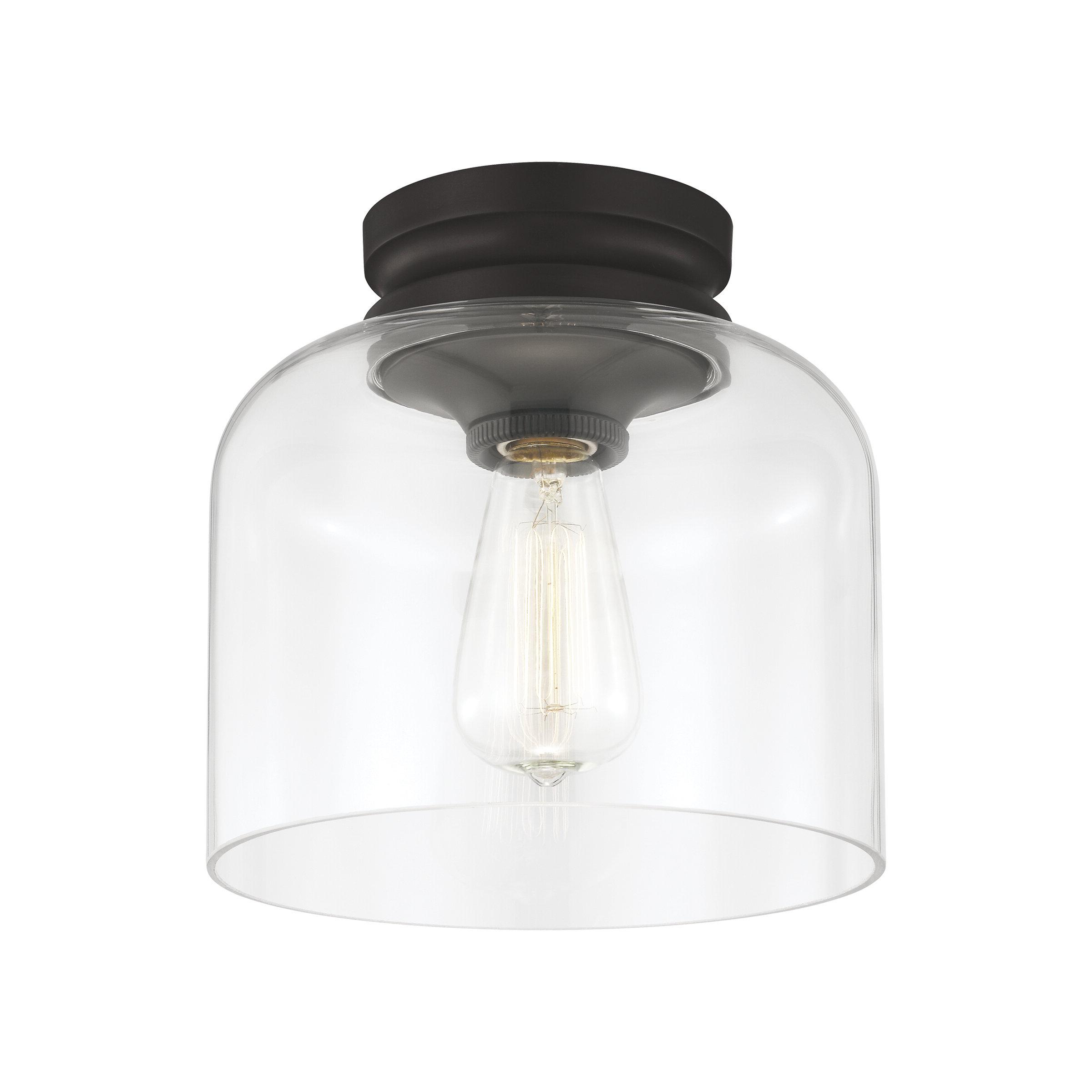 Best And Newest Nolan 1 Light Single Cylinder Pendants In Nolan 1 Light Semi Flush Mount (Gallery 11 of 20)