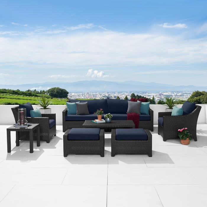 Best And Newest Northridge Patio Sofas With Sunbrella Cushions Pertaining To Northridge 8 Piece Sofa Seating Group With Sunbrella Cushions (View 4 of 20)