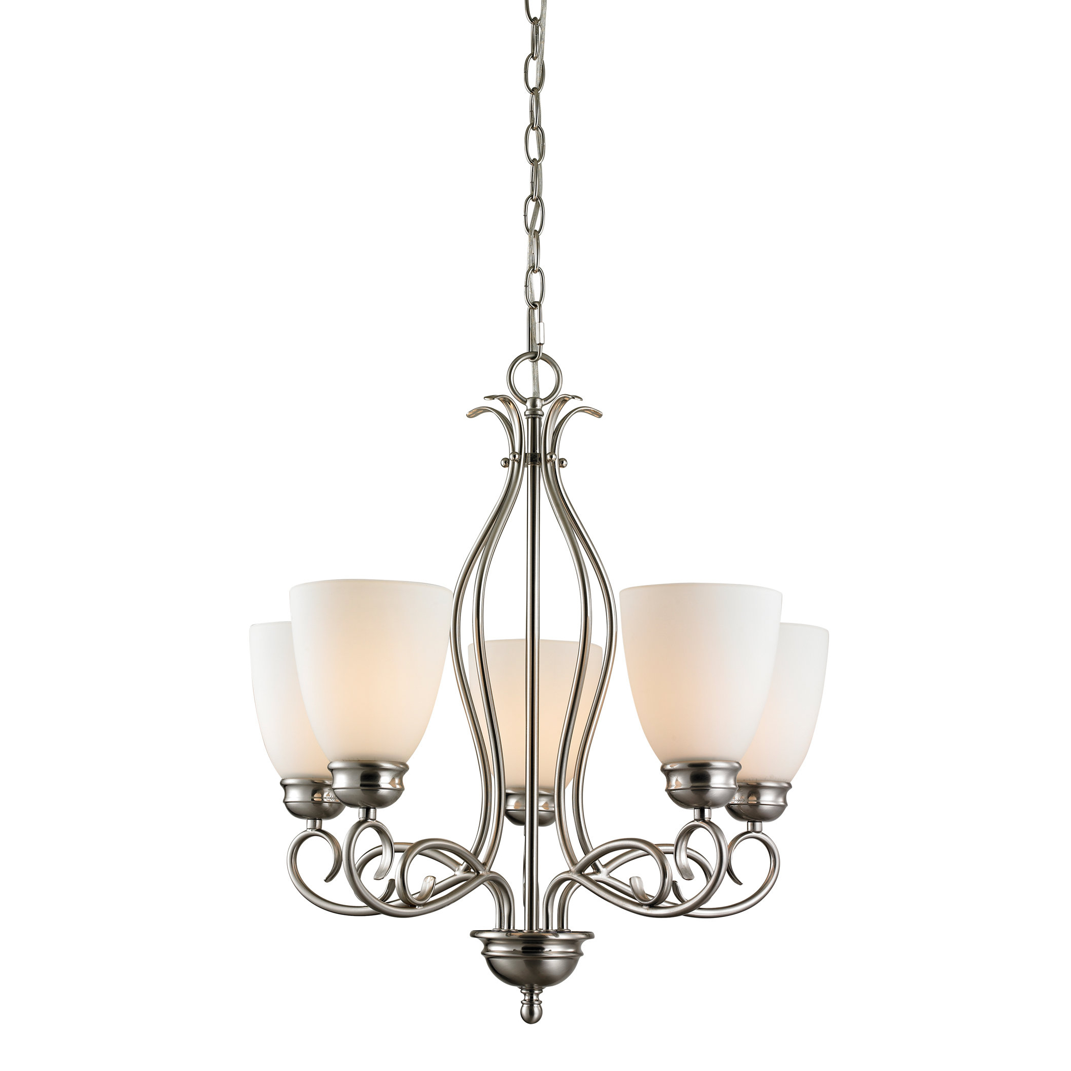 Best And Newest Pearlie 5 Light Shaded Chandelier Inside Gaines 5 Light Shaded Chandeliers (View 17 of 20)