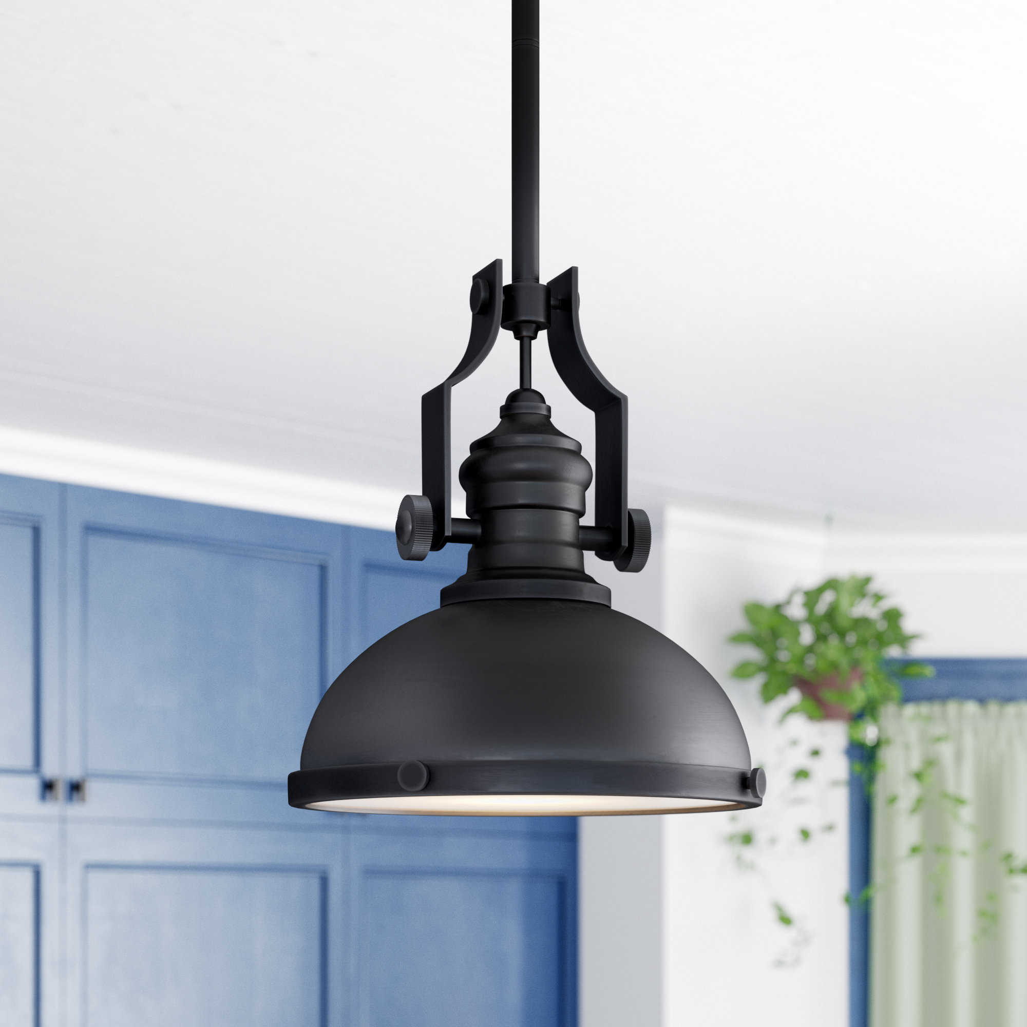 Best And Newest Priston 1 Light Single Dome Pendants Within Priston 1 Light Dome Pendant (Gallery 7 of 20)