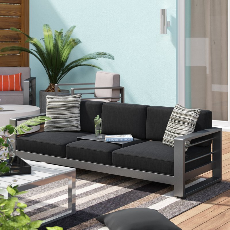 Best And Newest Rowley Patio Sofas Set With Cushions For Royalston Patio Sofa With Cushions (Gallery 10 of 20)
