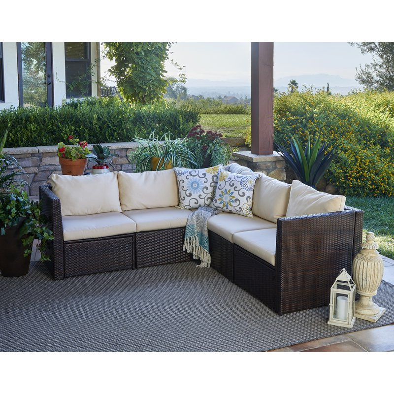 Best And Newest Rowley Patio Sofas Set With Cushions In Larsen Patio Sectional With Cushions (Gallery 4 of 20)