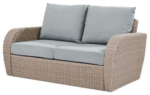Best And Newest St Augustine Outdoor Wicker Loveseat, Cushions: Mist With Wicker Loveseats (Gallery 9 of 20)