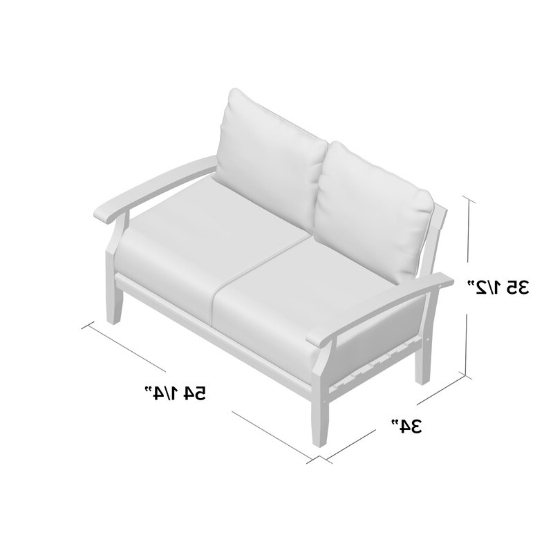 Best And Newest Summerton Teak Loveseats With Cushions Inside Summerton Teak Loveseat With Cushions (View 2 of 20)