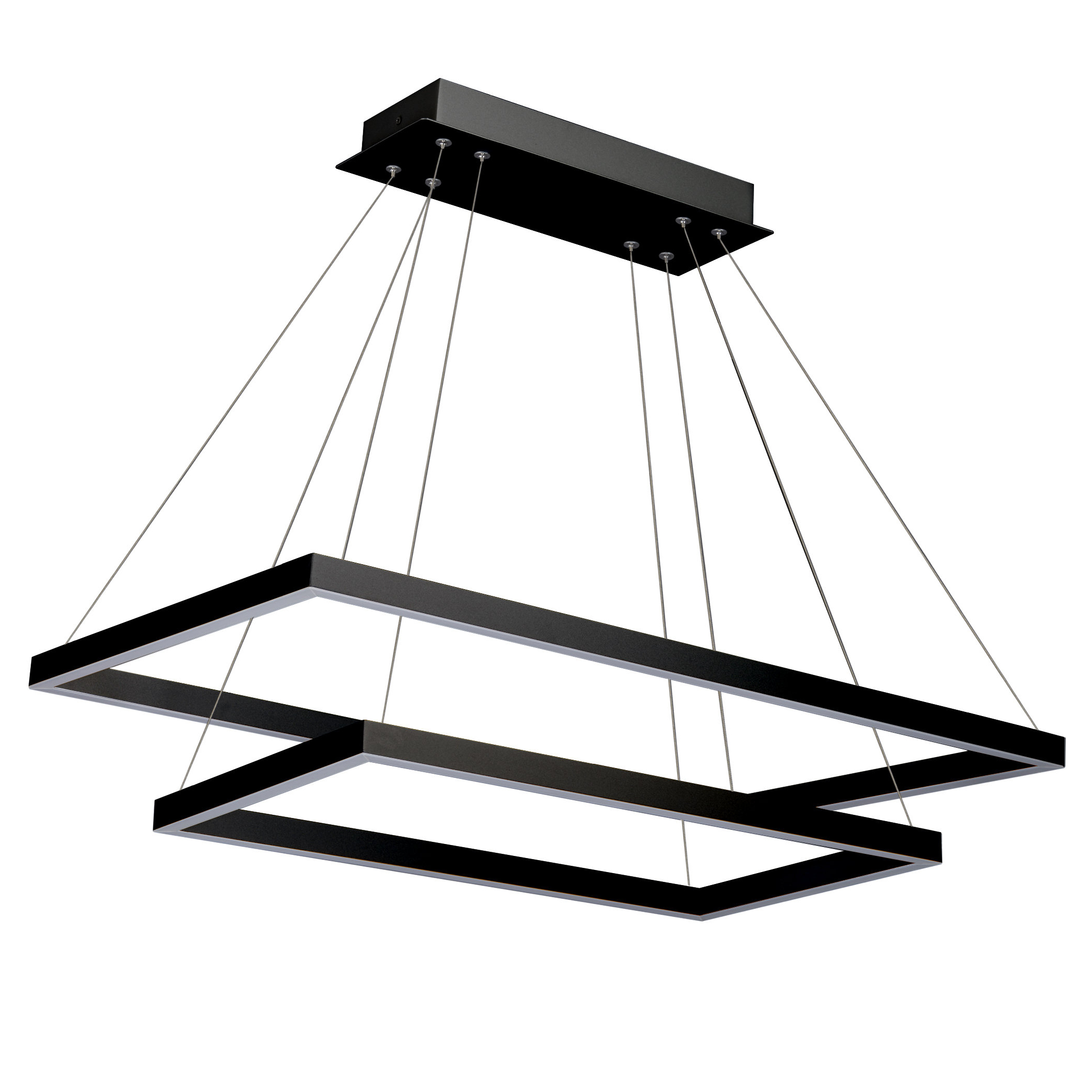 Best And Newest Tabit 5 Light Geometric Chandeliers Inside Wade Logan Donovan 2 Lights Led Square/rectangle Chandelier (View 19 of 20)