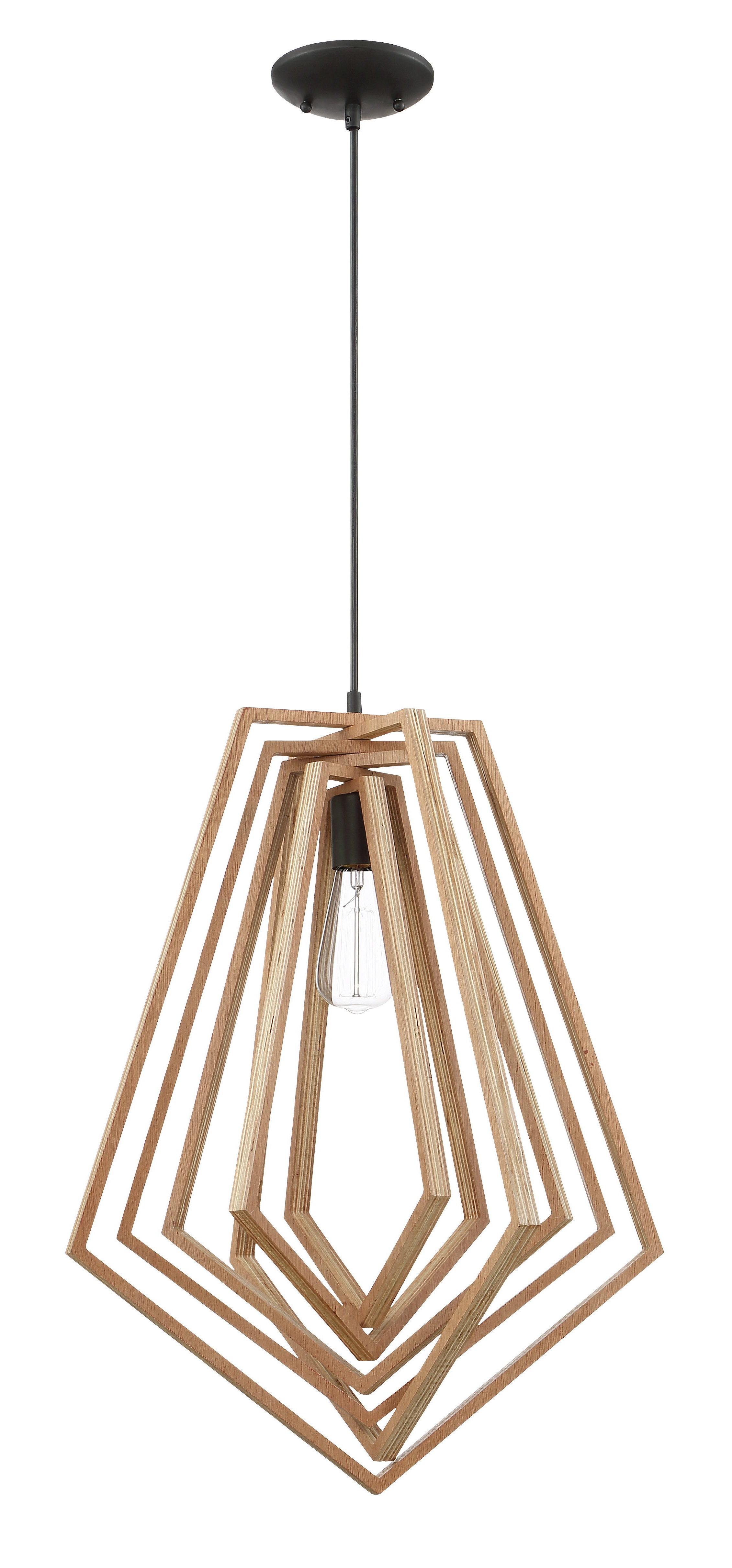 Best And Newest Union Rustic Shelbi 1 Light Geometric Pendant Intended For Melora 1 Light Single Geometric Pendants (Gallery 10 of 20)