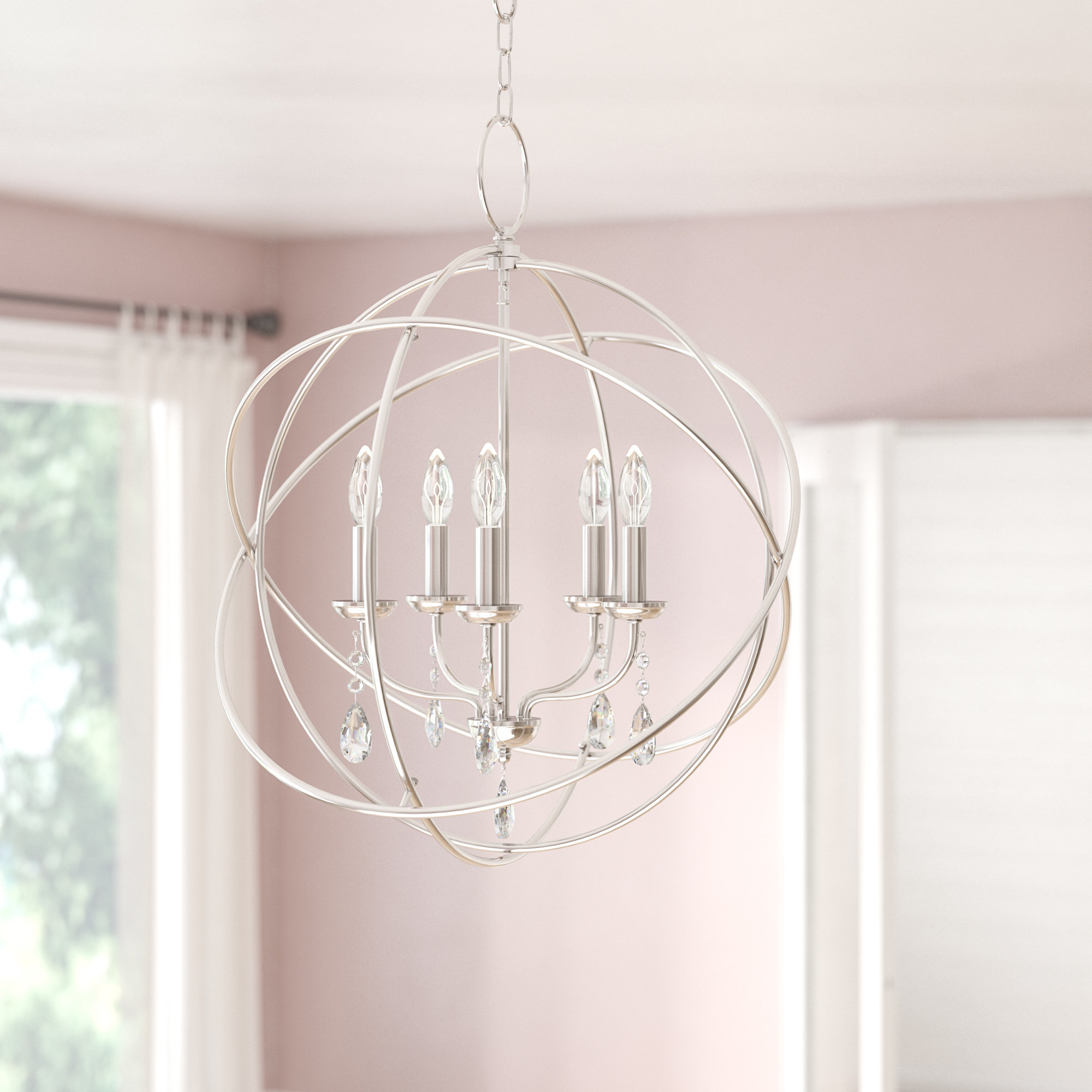 Best And Newest Verlene Foyer 5 Light Globe Chandeliers In Auberta 5 Light Globe Chandelier (View 1 of 20)