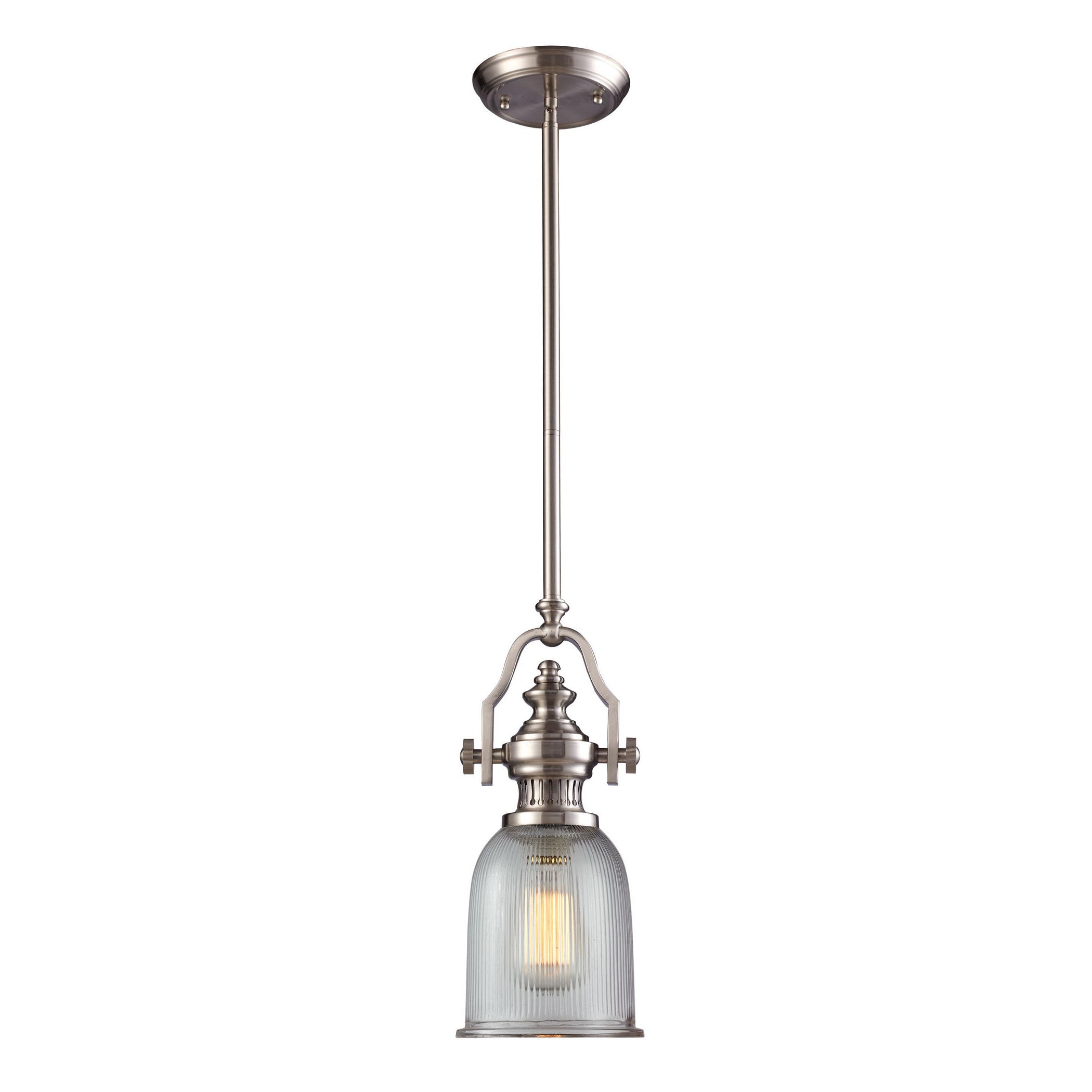 Birch Lane™ Heritage Erico 1 Light Single Bell Pendant In Current Grullon Scroll 1 Light Single Bell Pendants (View 2 of 20)