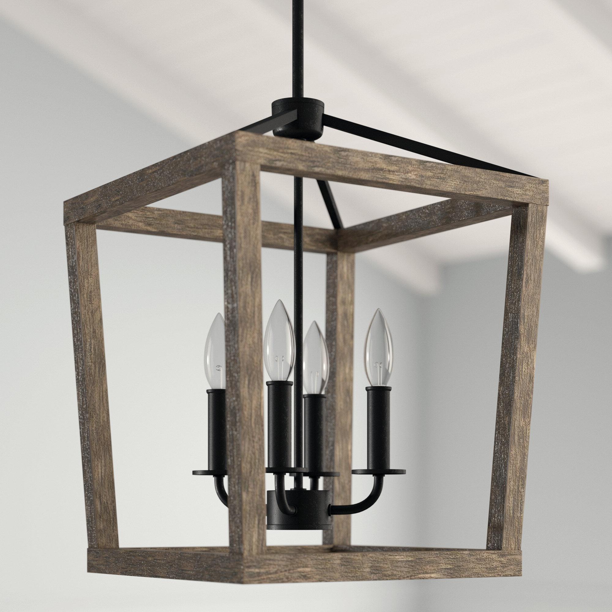 Birch Lane™ Heritage Natarsha 4 Light Lantern Geometric Pendant With Regard To Popular Louanne 3 Light Lantern Geometric Pendants (View 16 of 20)