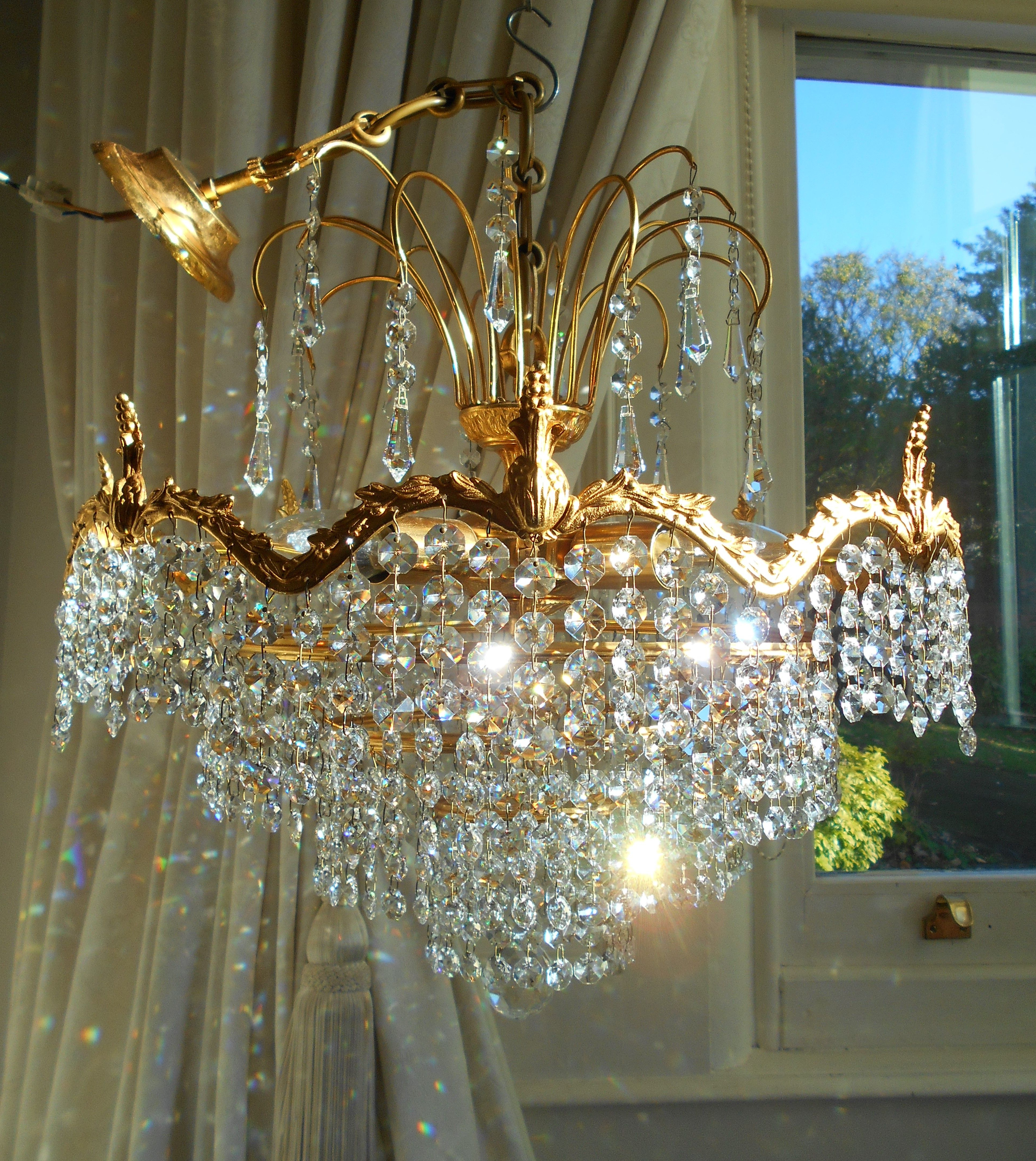 Blanchette 5 Light Candle Style Chandeliers In Most Recent Vintage 5 Tier Lead Cystal Waterfall Chandelier (View 4 of 20)