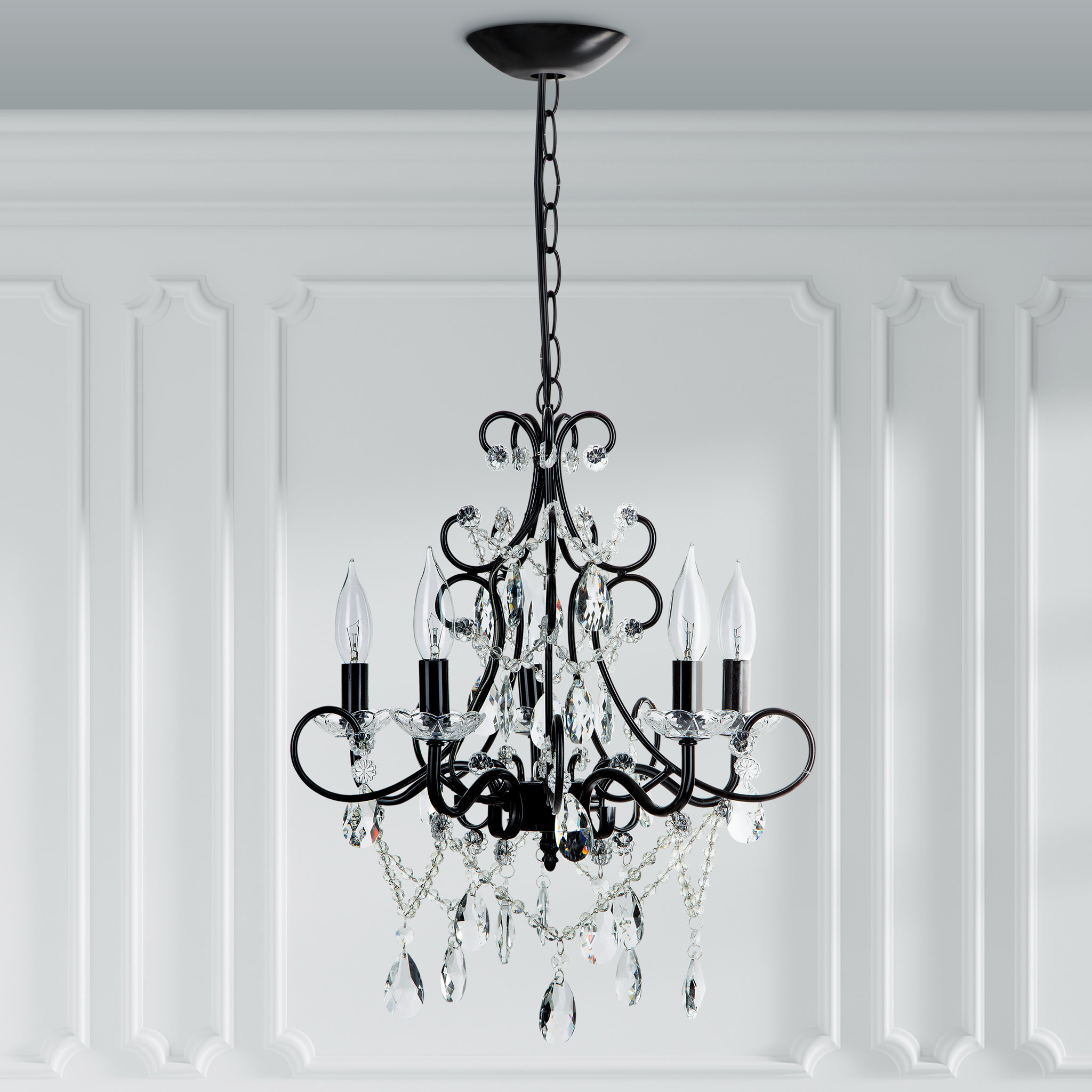 Featured Photo of Blanchette 5 Light Candle Style Chandeliers