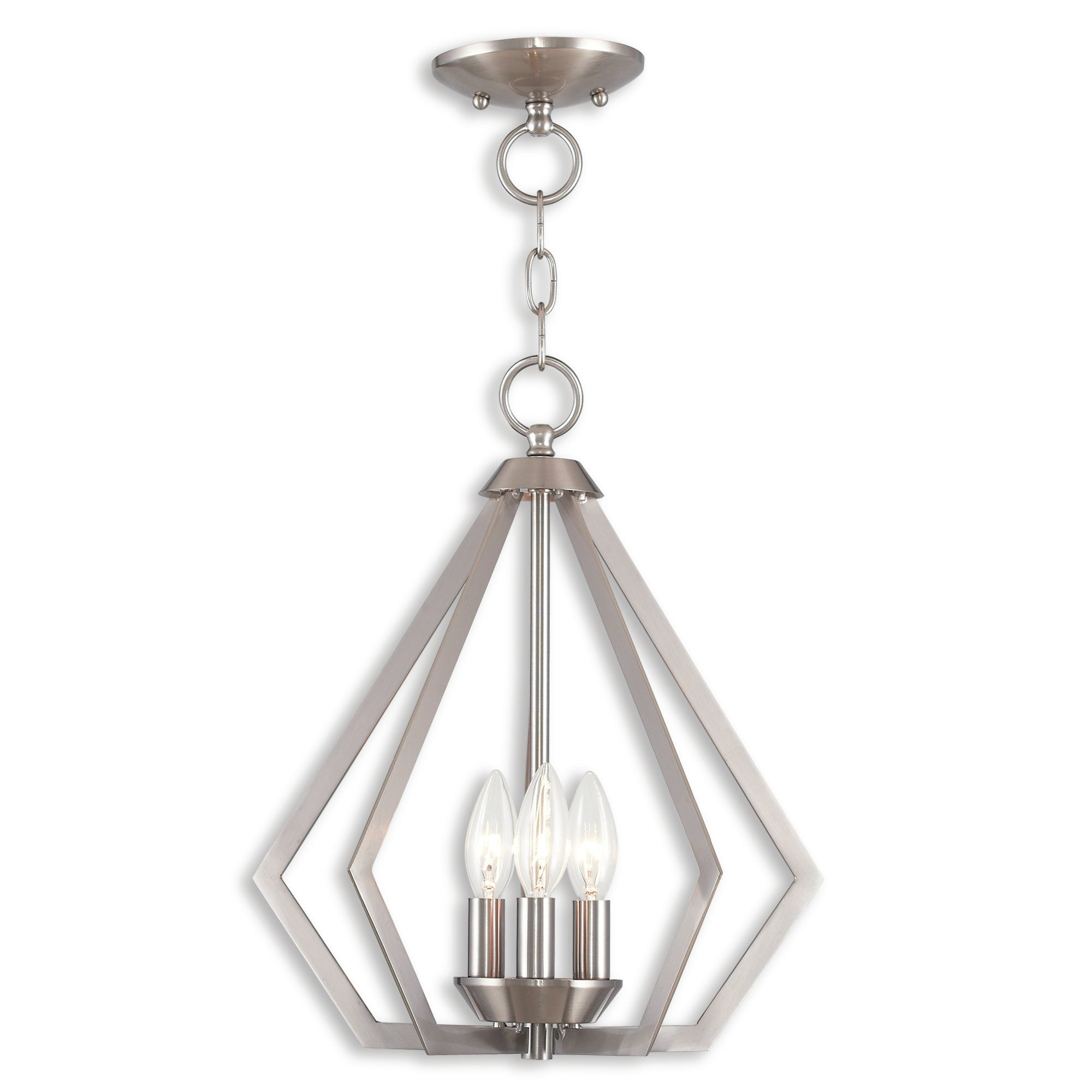 Borasisi 3 Light Lantern Geometric Pendant For Widely Used Chauvin 3 Light Lantern Geometric Pendants (View 3 of 20)