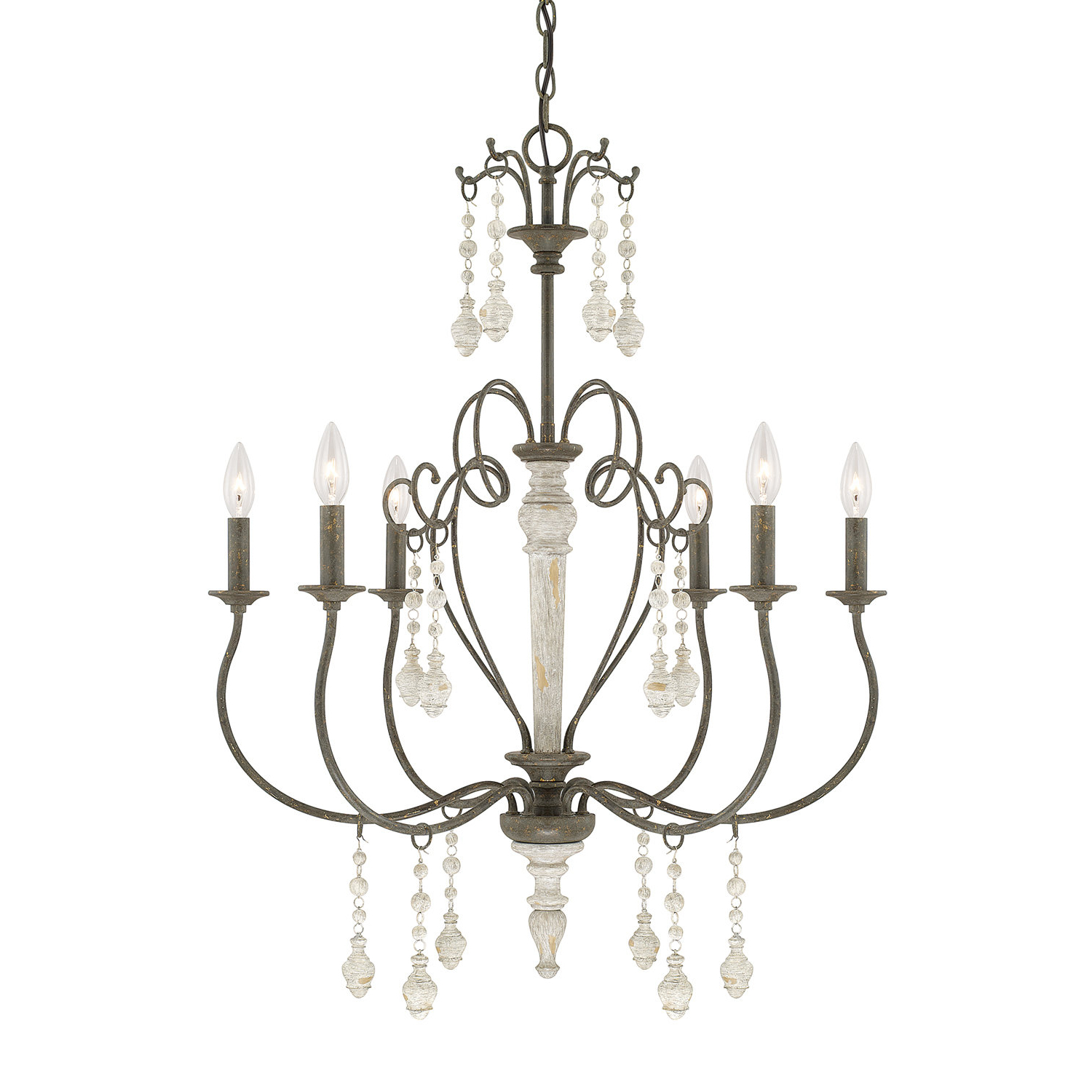 Bouchette Traditional 6 Light Chandelier For 2019 Corneau 5 Light Chandeliers (View 14 of 20)